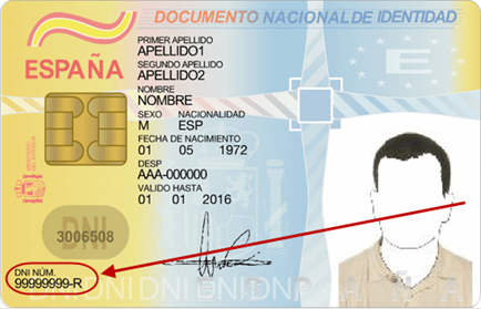 Número de Documento Nacional de Identidad