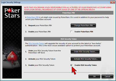Login Security Settings Option