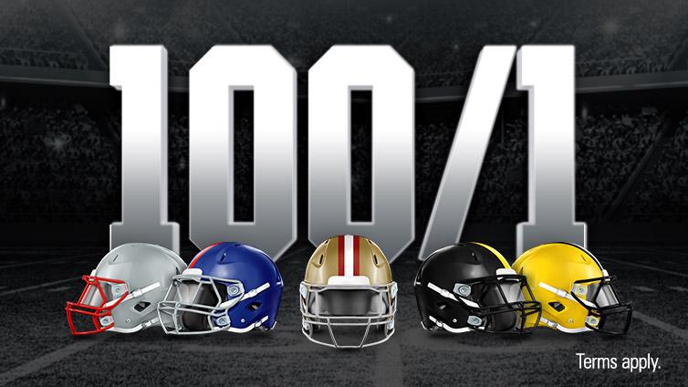 100/1 Super Bowl Winner