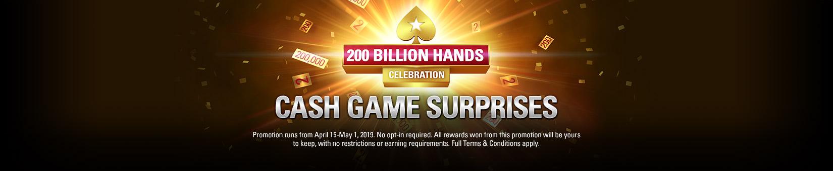 200 Billion Hands Celebration: Cash Game Surprises
