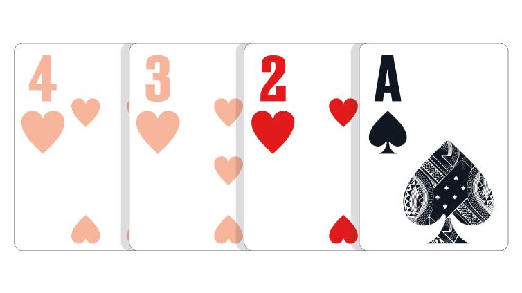 Ruka sastavljene od tri karte