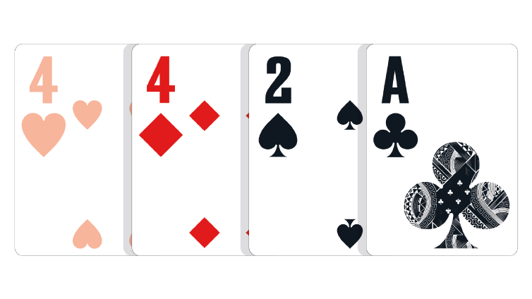 Blätter aus drei Karten