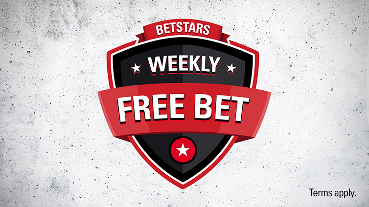 Weekly Free Bet – Bet $25 Get a $5 Free Bet