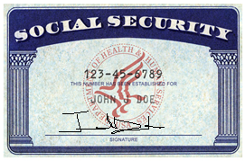 Specimen Example of a Social Security Card