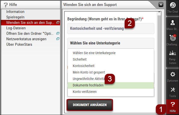 Dokumente über die Desktop-Software hochladen