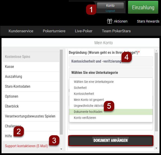 Dokumente über die Web-Software hochladen