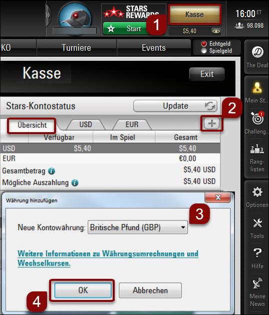 Währung in der Desktop-Software anlegen