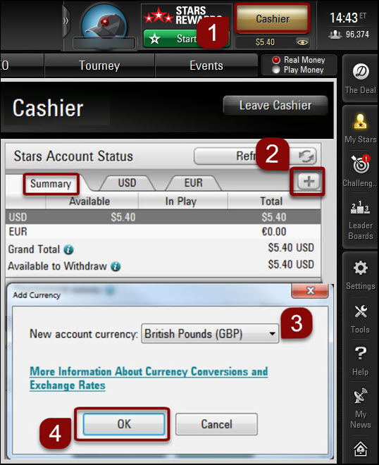Add currency on the desktop client