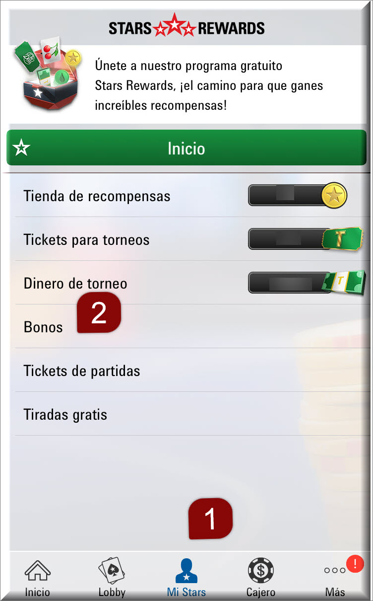 Instructions from the Mobile client to surrender an Instant Bonus just go to My stars and click on bonuses