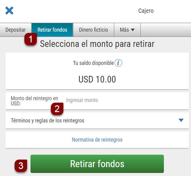 Reintegros con Transferencia bancaria directa