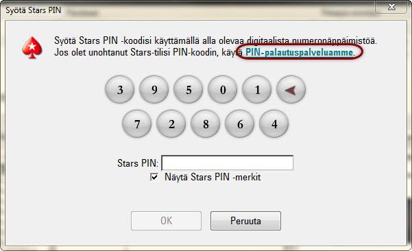 PIN-palautuspalvelulinkki