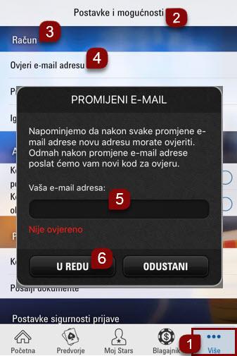 Upute za ovjeru e-mail adrese na mobilnoj platformi