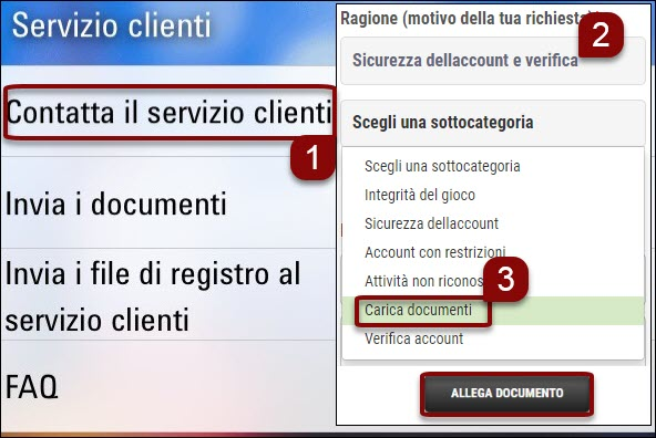 Upload documents through the mobile software