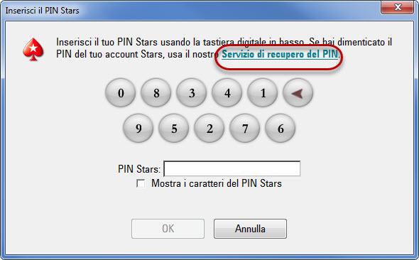 Link Servizio di recupero PIN