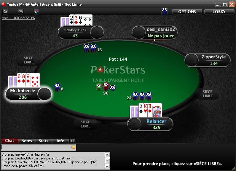 Table de Stud Poker 8