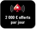 2 000 € offerts chaque jour sur mobile