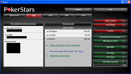 PokerStars Deposits
