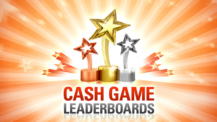 Cash Game Leader Boards