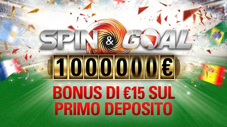 €15 Spin & Goal Deposit Bonus