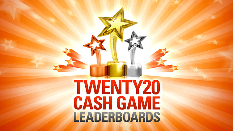 Twenty20 Cash Game Leader Boards