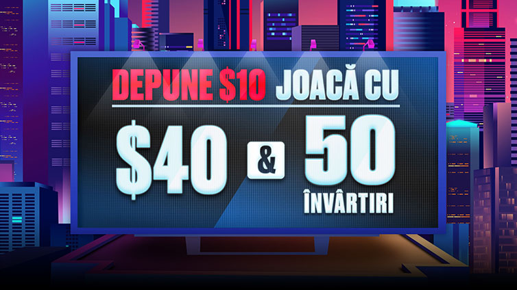 Play with $40 & 50 Free Spins