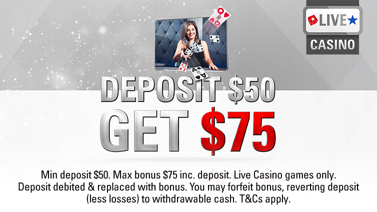 50% extra in Live Casino games
