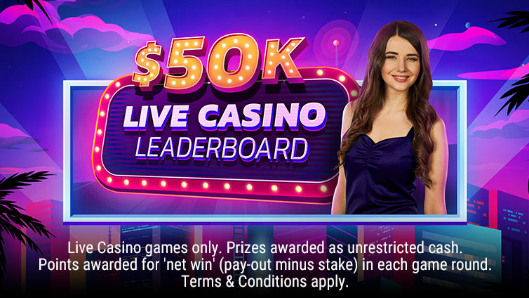 $50,000 Live Leader Board