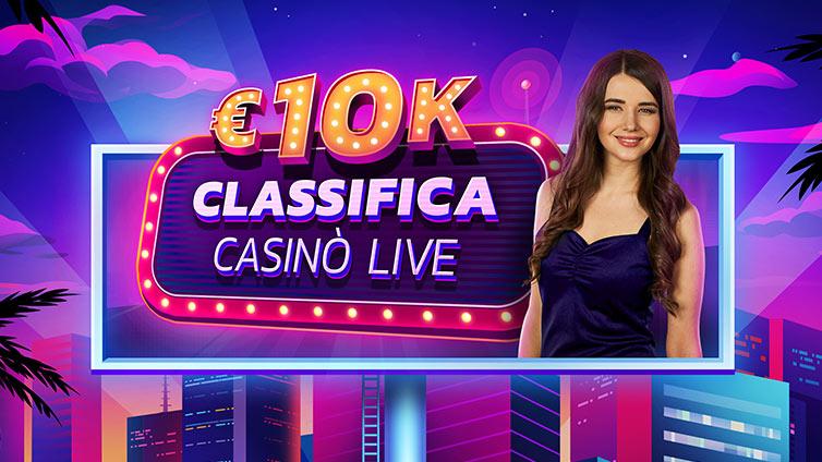 Live Casino Leader Board