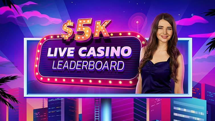 $5,000 Live Leader Board