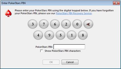 PokerStars PIN