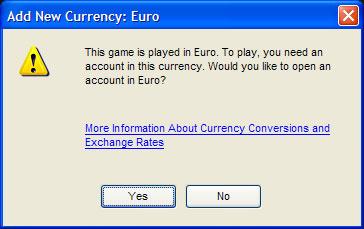 Tilføj ny valuta
