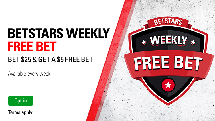 Opt-in, bet $25 and get a $5 Free Bet