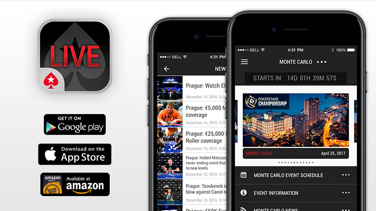 Stay up-to-date with the PokerStars Live App